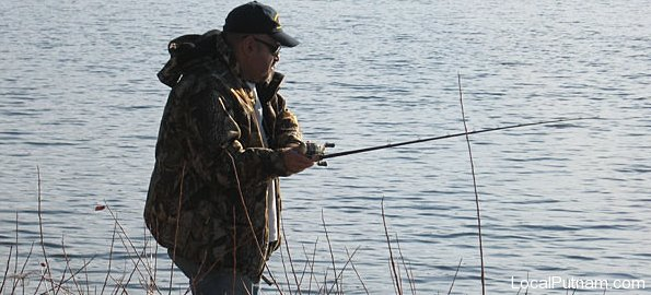 Fishing on Lake Gleneida