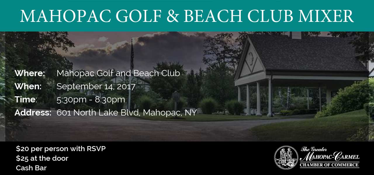 Networking Mixer at Mahopac Golf and Beach Club