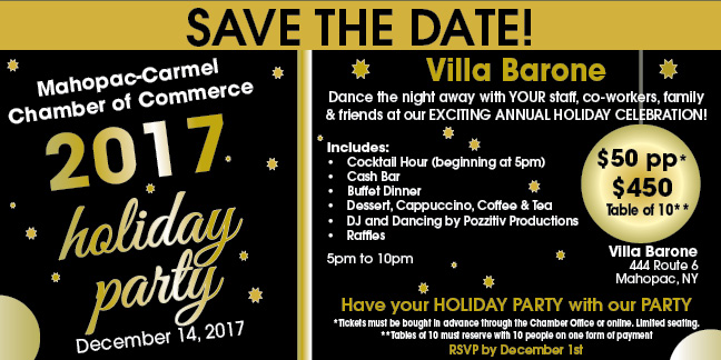 Mahopac Carmel Chamber Annual Holiday Party